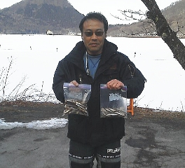 榛名湖氷上ワカサギ釣り